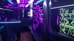 Houston party bus with two poles