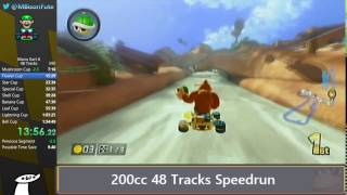 Mario Kart 8 200cc 32 Tracks Speedrun in 1:02:53 [Current World Record]