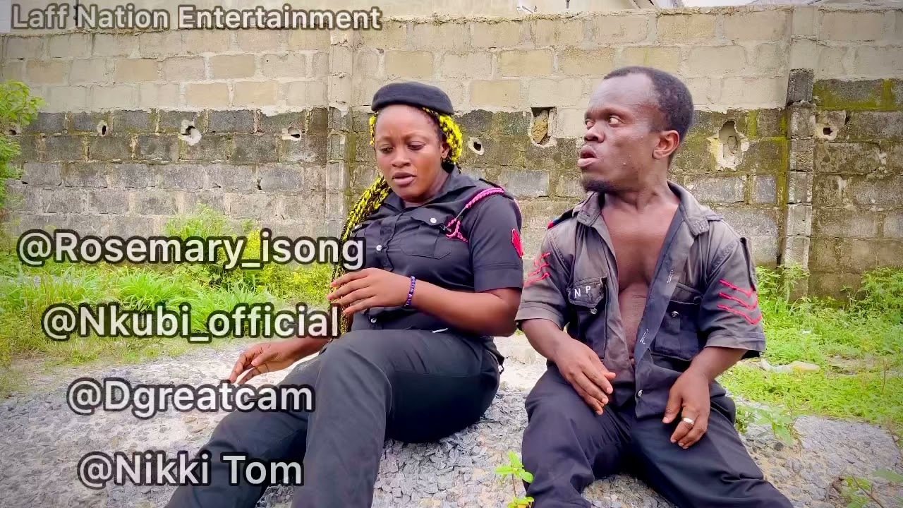 Download Officer Eno Obong & Officer Small Stout Battle At Duty Post