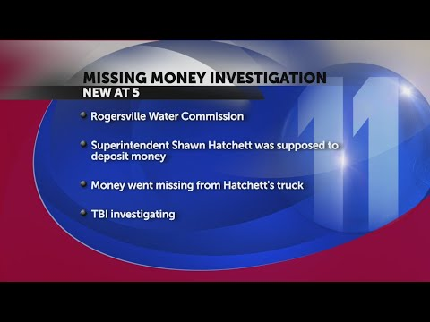 TBI investigating theft at Rogersville Water Commission