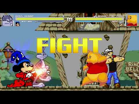 AN Mugen #129: Bugs Bunny & Mickey Mouse VS Winnie The Pooh & Popeye