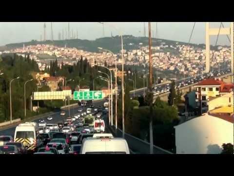 Turkey Istanbul - 2012 Bus Tour Taxim Europe  Bosfor to Asia