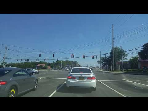 Driving from East Meadow to Farmingdale in Nassau,New York