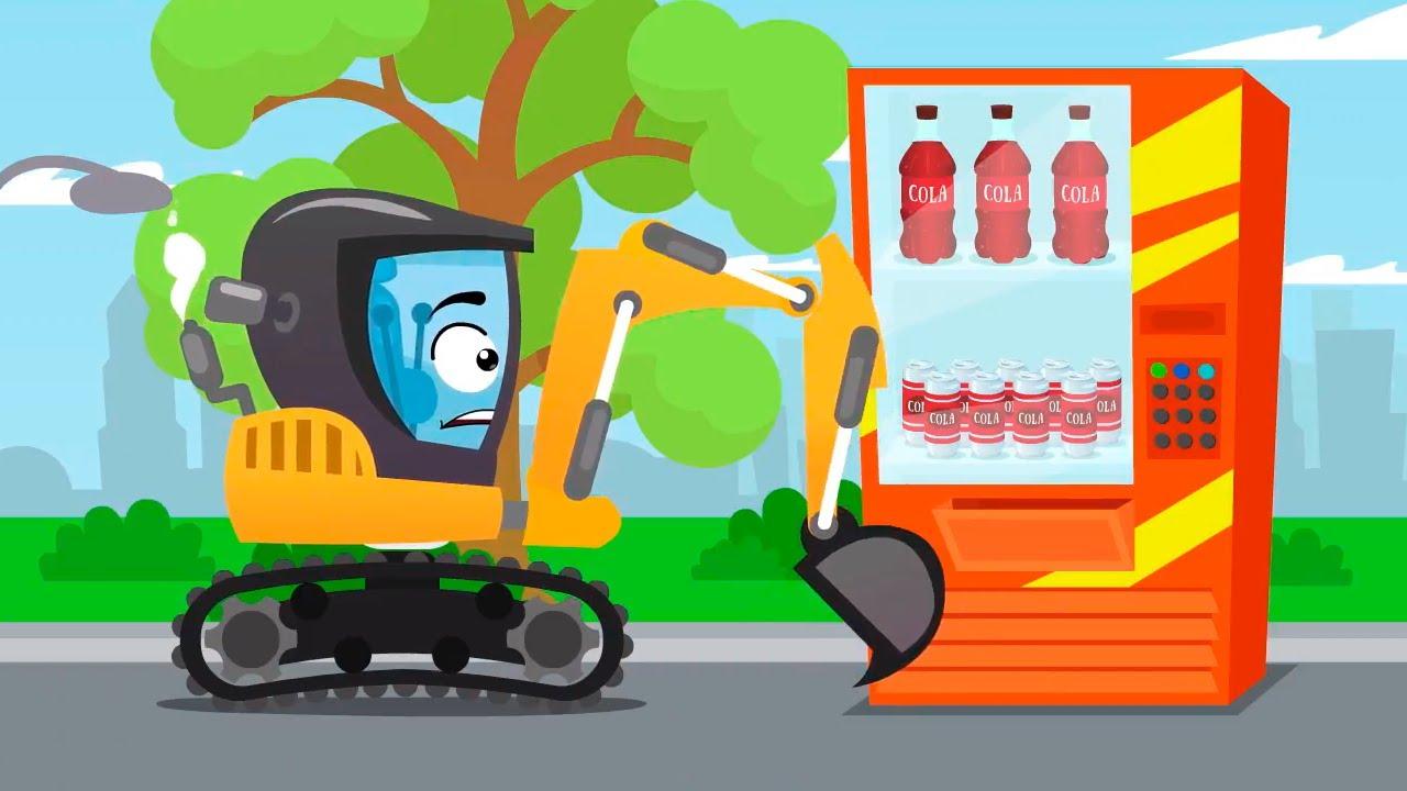 Koparka z elektrycznym ładunkiem – Cars Stories – Bajki dla Dzieci