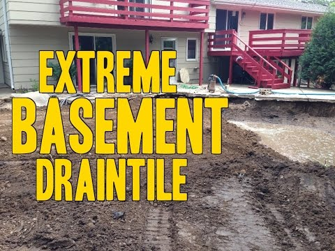 How to fix a Wet basement with Draintile