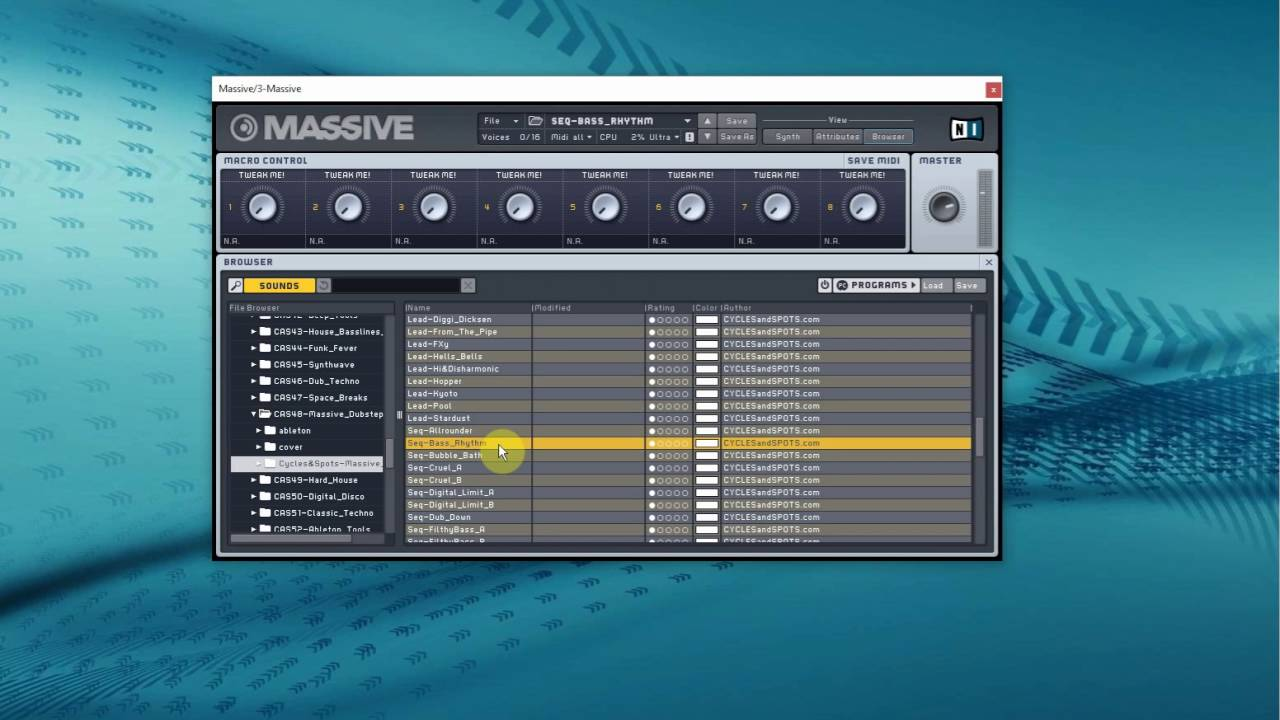 how to make dubstep in massive