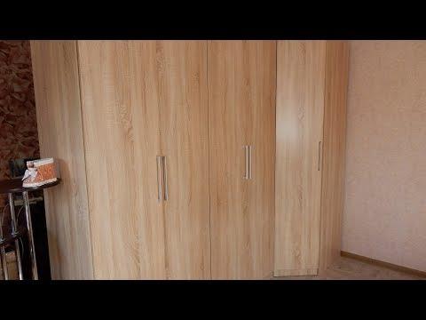 Собираем шкаф для одежды  двухдверный распашной  от магазина HOFF