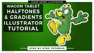 Adobe Illustrator CC Tutorial adding Halftones and Gradients