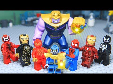 Lego Superhero Avengers Civil War Venom Rescue Thanos