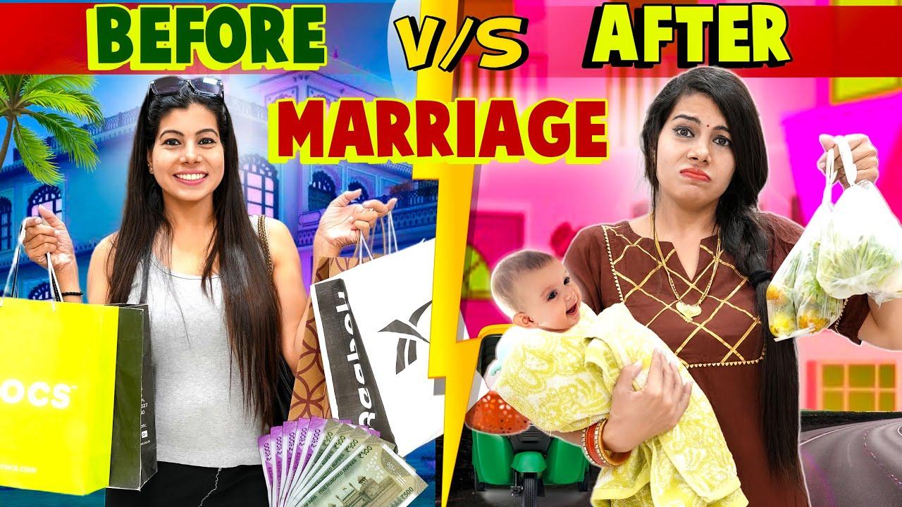 Before Marriage vs After Marriage | Sanjhalika Vlog