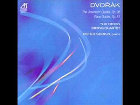 Orion String Quartet- Dvorak Quintet in A Major i. Allegro, ma non tanto (Peter Serkin, piano)