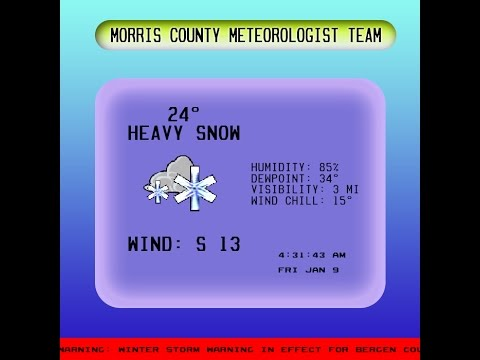 MORRIS COUNTY METEOROLOGICAL TEAM - WMCC WEATHER CHANNEL