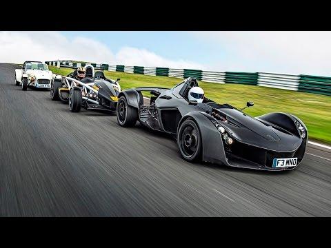 Battle of the Lightweights | BAC Mono vs Ariel Atom 3.5R vs Caterham 160 | Top Gear