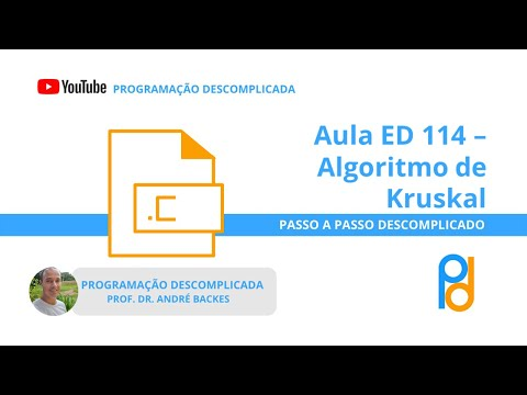 [ED] Aula 114 - Algoritmo de Kruskal