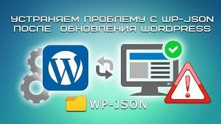 Устраняем проблему с WP-JSON после обновления WordPress Mp3