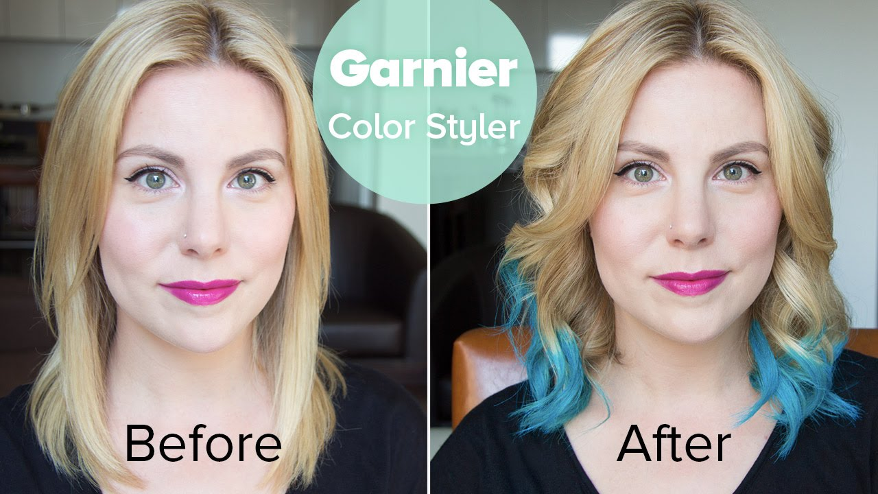Tutorial Garnier Color Styler In Blue Burst Before And