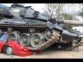 報廢汽車的正確處理方式是什麽?用坦克直接碾壓