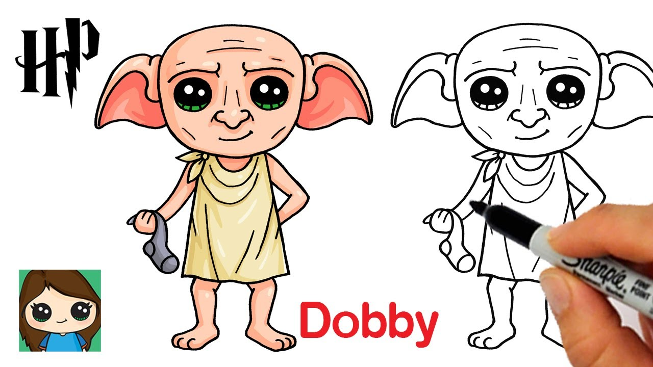 How to Draw Dobby House Elf  Harry Potter