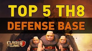 Repeat youtube video Clash of Clans - TOP 5 TH8 Defense Bases