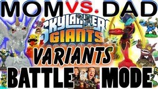 Mom & Dad play Battle Mode: VARIANTS! Polar Whirlwind / Scarlet Ninjini / Jade / Molten / Royal more