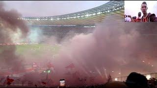 DFB-POKAL-FINALE 2018  ESKALIERT PYRO/Explosionen Frankfurt vs  Bayern  | Stadionvlog