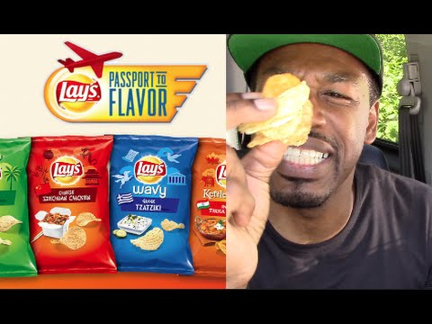 Lays 4 New Passport Global Flavored Chips