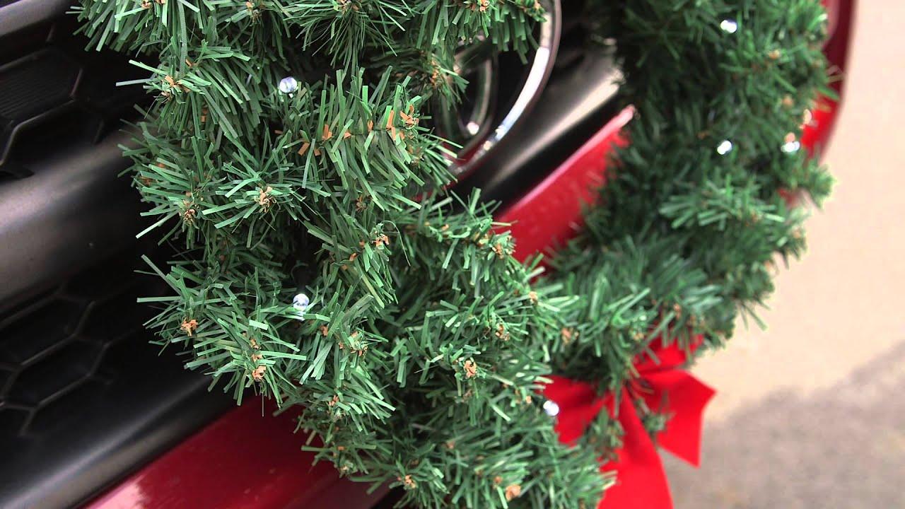 christmas wreath for car