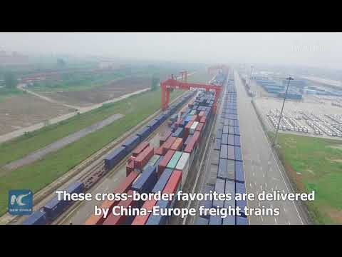 China-Europe freight trains bring European food to central China's supermarkets