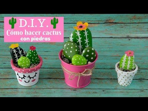 Cómo hacer cactus con piedras - Itziland