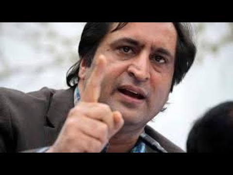 People's Conference chief Sajad Lone addresses the media in Jammu.