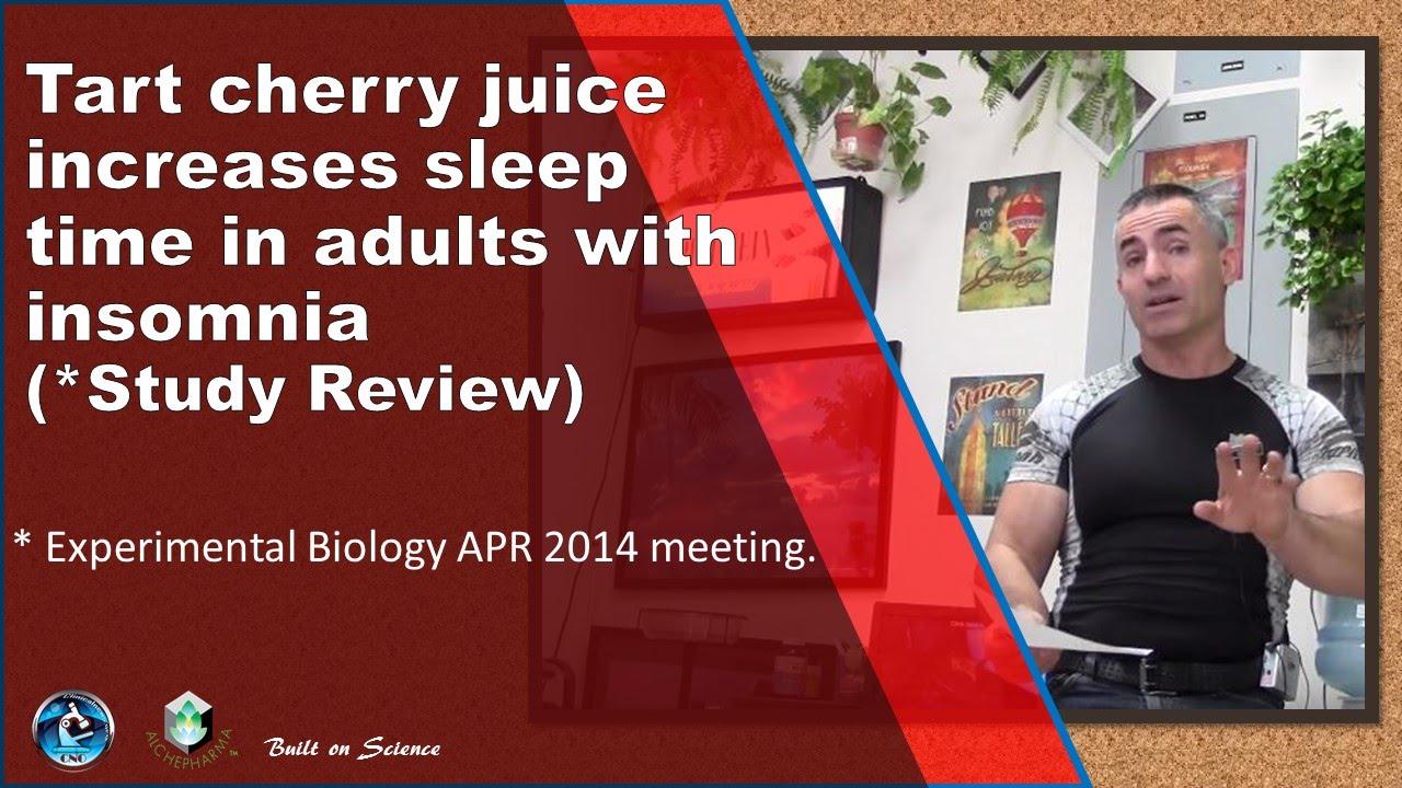 Tart Cherry Juice Sleep How Much