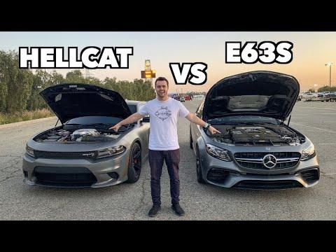 700HP MERCEDES E63S AMG VS HELLCAT ON SLICKS!