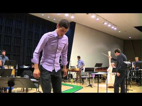 University of Iowa Percussion Program Rehearsal for Museum Exhibit