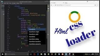 Html Css loader in easiest way !!! infinite loader using @keyframes!! simple css and html tages....