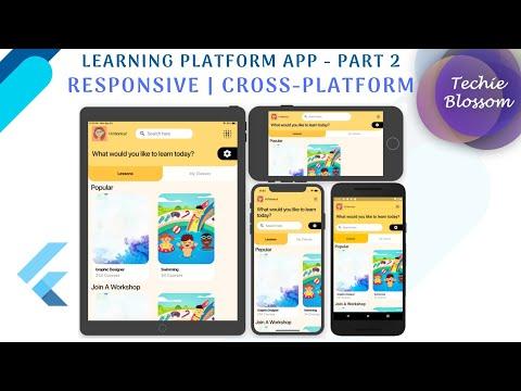 Flutter Responsive UI   Learning Platform App - Part 2