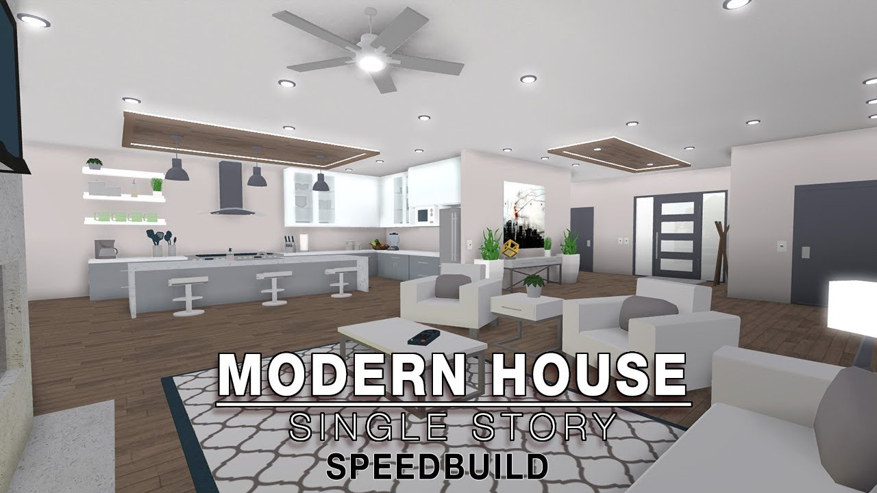 Roblox bloxburg modern house single story speedbuild voice intro