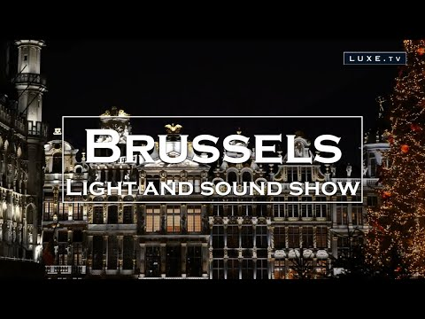A magical light and sound show on the Grand Place in Brussels