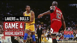 Throwback NBA Finals 1991. Chicago Bulls vs LA Lakers - Game Highlights | Game 4