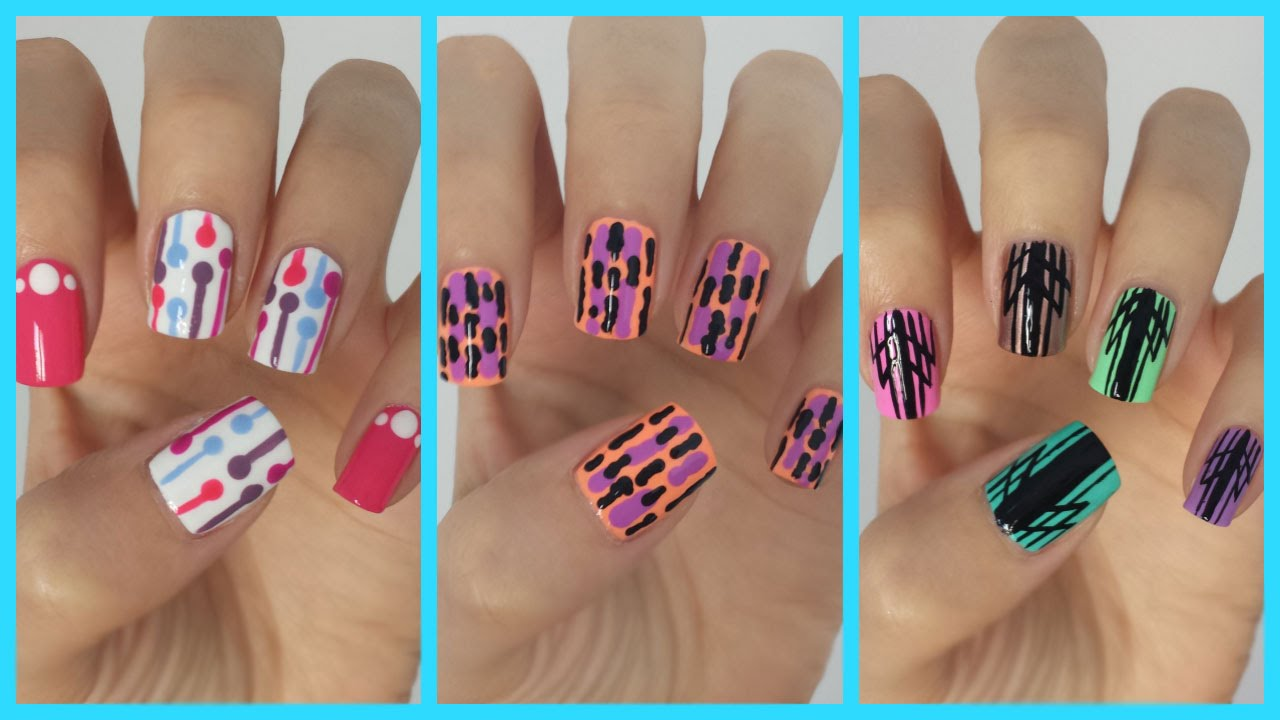 Easy Nail Art For Beginners!!! #14 | JennyClaireFox - YouTube