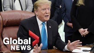 President Trump discusses release of Mueller report, North Korea summit