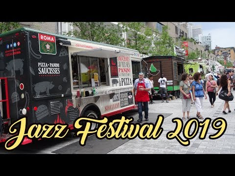 JAZZ FESTIVAL IN DOWNTOWN MONTREAL 2019! LIFE IN THE CITY OF MONTREAL! SUMMER IN MONTREAL, CANADA!