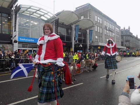 Trinity Centre Santa and Reindeer parade Aberdeen !