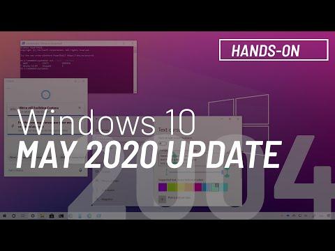 Windows 10 April 2020 Update, Version 2004, New Featuers