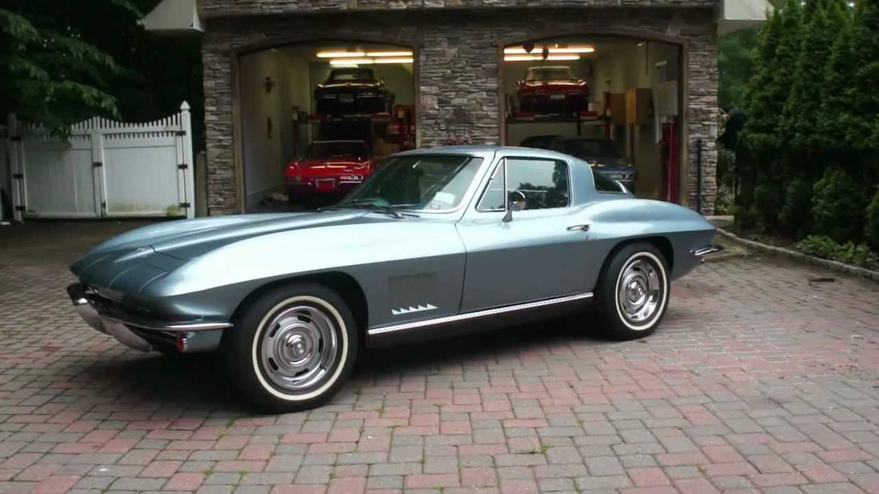 sold 1967 corvette coupe for sale elkhart blue pb ps a c posi tint tank sticker sales reciept youtube