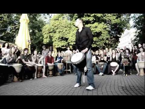 Street Music: Djembe drums players at GMD 2012, Vilnius, Lithuania