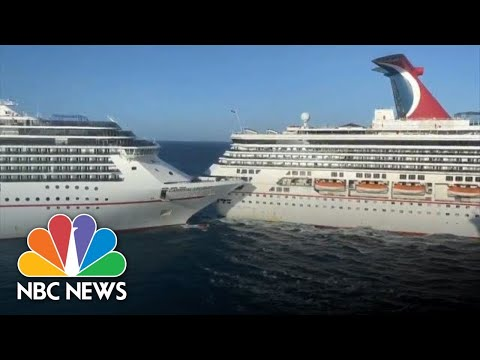 WATCH: Two Carnival Cruise Ships Collide In Mexico   NBC News