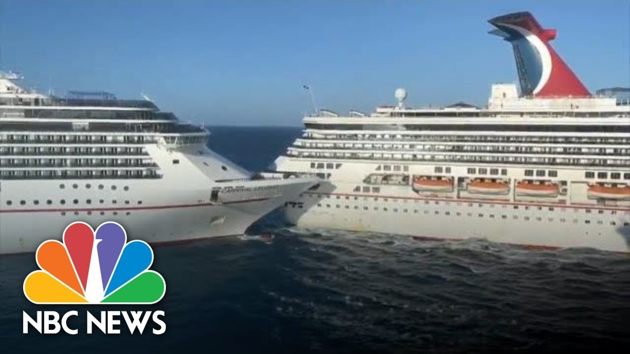 WATCH: Two Carnival Cruise Ships Collide In Mexico | NBC News