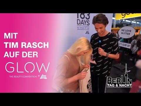 Auf der GLOW in Wien mit Tim Rasch von 'Berlin - Tag & Nacht'