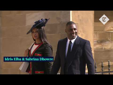 Royal Wedding: David Beckham and George Clooney arrive at St.George's Chapel
