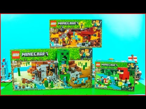 LEGO MINECRAFT Compilation Summer 2019 - UNBOXING Speed Build